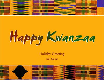 Kwanzaa1 Greeting Card (4x55)